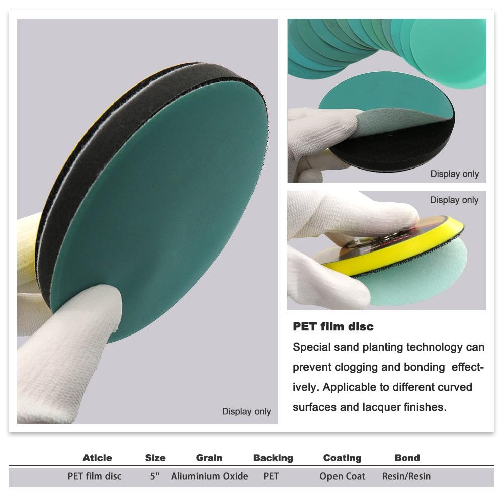 10 pezzi 5 pollici 125 mm da 60 a 2000 grana pellicola a strappo - Utensili abrasivi - Fotografia 2