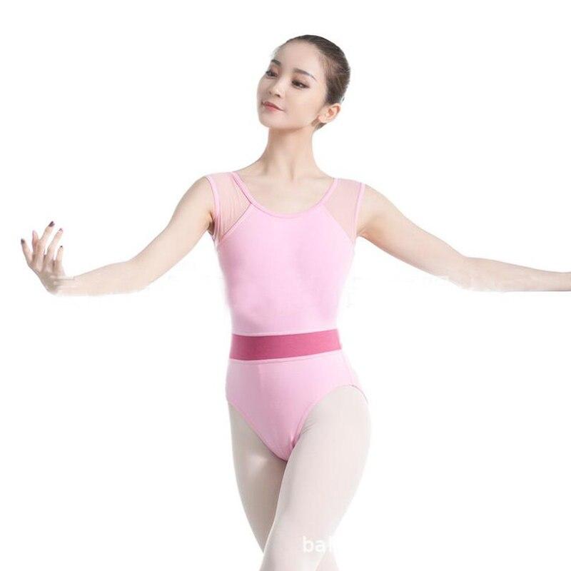 Negro Rosa leotardo para gimnasia Ballet mallas para las mujeres Ballet leotardo adulto manga corta Ballet ropa para baile de disfraces