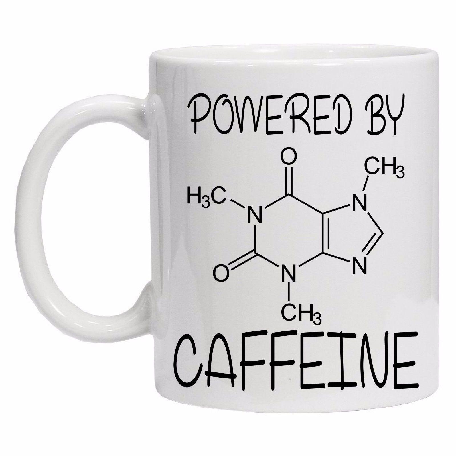 Alimentado Pela Cafeína Geek Nerd Fórmula Chá Engraçado Canecas de Cerâmica Caneca Do Presente Xícara de Leite Chá de Café