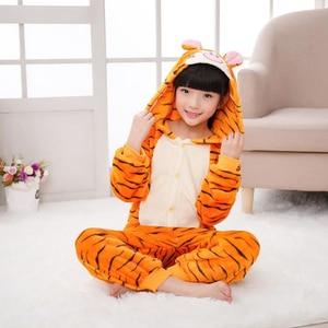 Photography Kid Boys Girls Party Clothes Pijamas Flannel Pajamas Child Zebra Hooded Sleepwear Cartoon Animal Tiger Cosplay