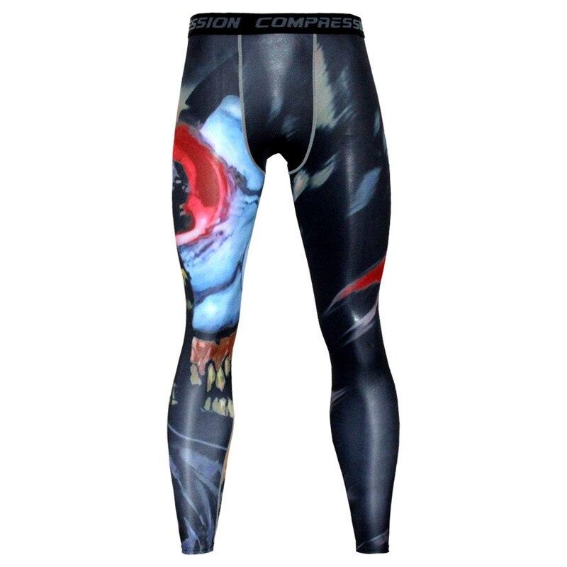 Pantalones de compresión con estampado de Fitness para hombre, Leggings deportivos para hombre, pantalones deportivos para correr, ropa deportiva seca, pantalones de entrenamiento de gimnasia