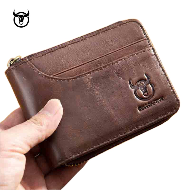 Brand Genuine Leather Men Wallets Short Coin Purse Small Retro Wallet Cowhide Leather Card Holder Pocket Purse Men Wallets contact s fashion genuine leather women wallet small standard wallets coin bag brand design lady purse card holders red brown