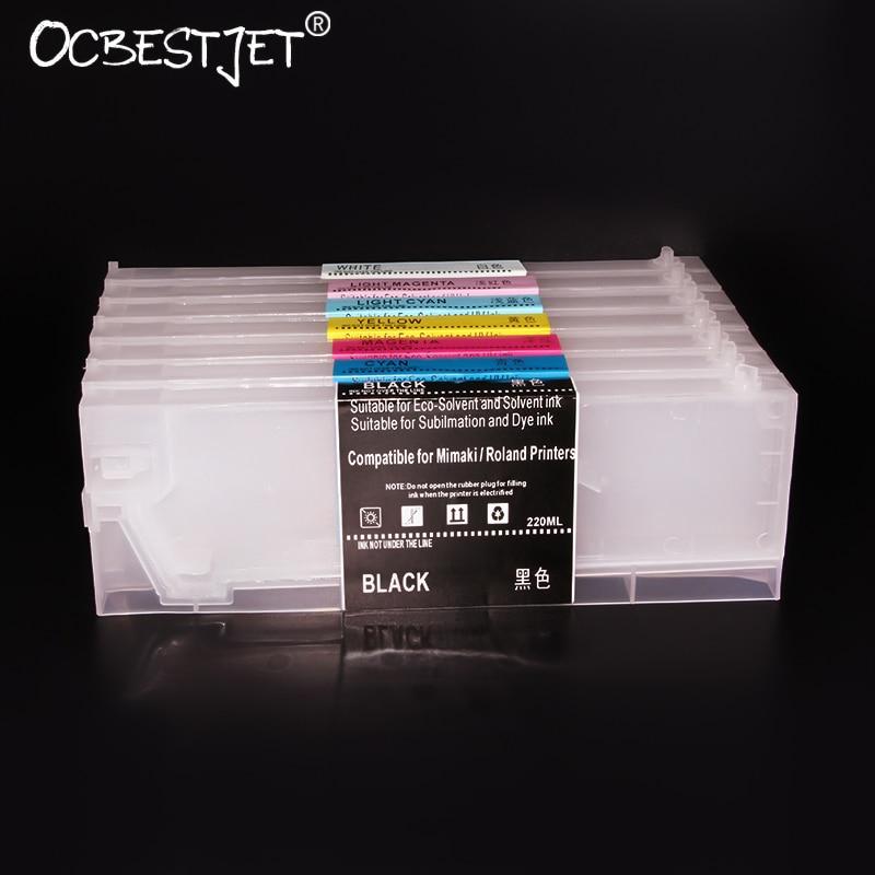 Cartucho de tinta rellenable ECO-SOL MAX 2 Unid de 220ml para XR-640 Roland XF-640 VS-640i VS-540i (8 colores disponibles)
