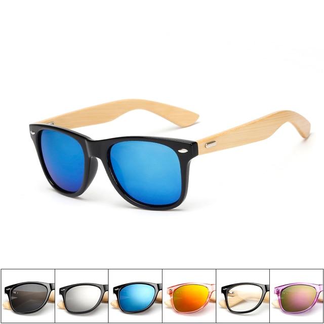 17 color Wood Sunglasses Men women square bamboo Women for women men Mirror Sun Glasses retro de sol masculino 2016 Handmade
