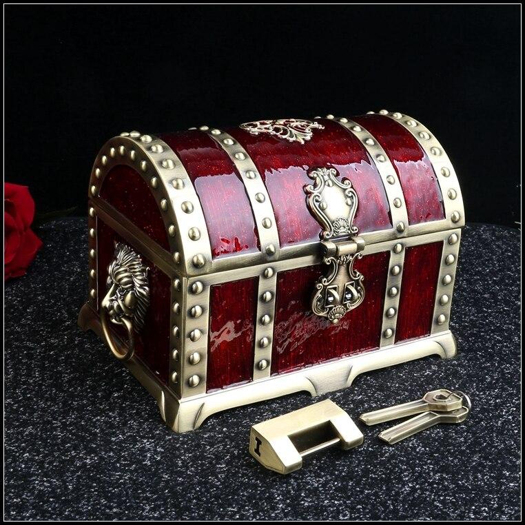 europe large size twol ayers metal jewelry box makeup organizer makeup organizer for girl gift Z106