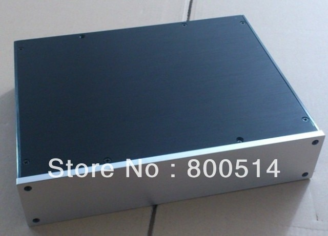 Caja de aluminio S3207/carcasa de amplificador de potencia/chasis de preamplificador de amplificador DIY DAC BOX
