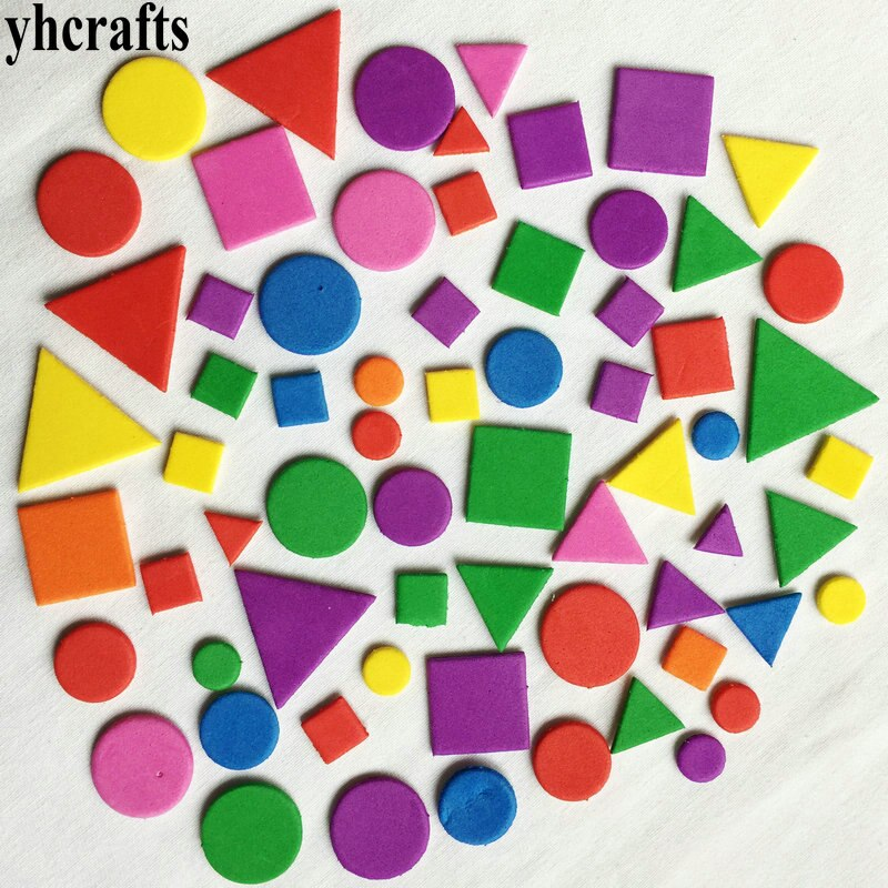 2bags(38-500PCS)/Lot Irregular geometric figure Foam sticker Kid toy Early educational learning kindergarten craft diy toy OEM multifunction educational learning machine english early tablet computer toy kid interactive toy training