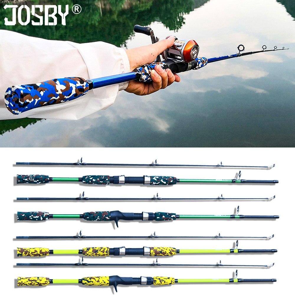 Caña de pescar Spinning Casting mosca ultraligera carpa de carbono Pesca mano señuelo alimentador Pole gear camuflaje Mini viaje Surf 1,5 M 1,8 M