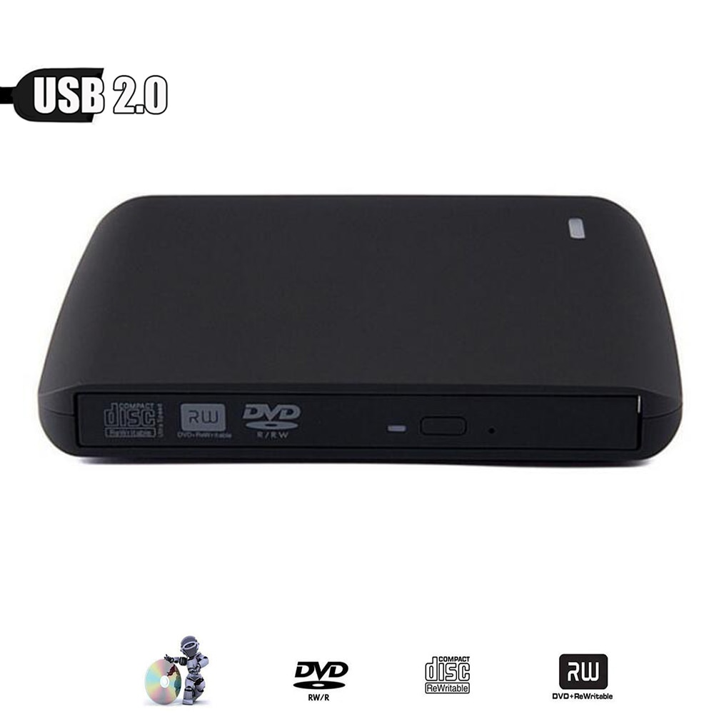 Slim externa USB 2,0 quemador de DVD DVD-RW VCD CD RW unidad Superdrive portátil para Apple Pro Air iMAC PC portátil