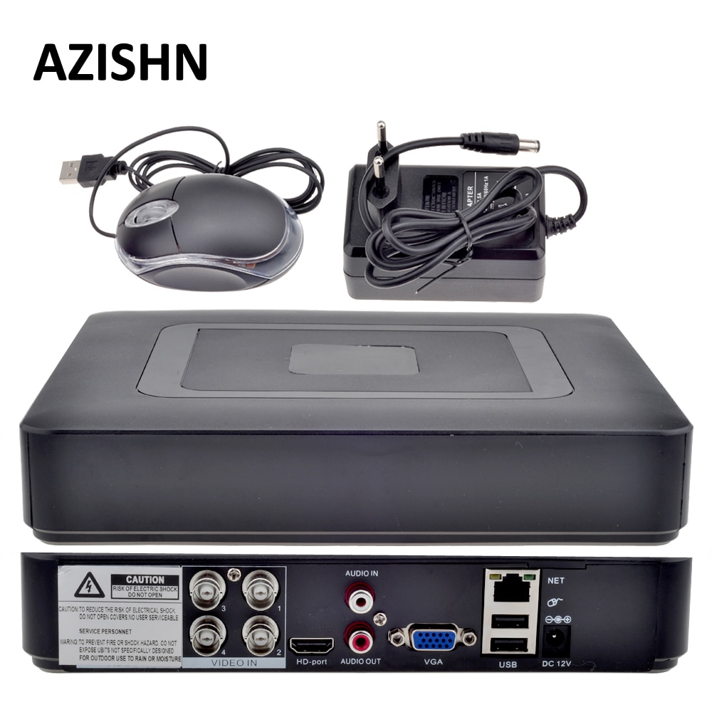 Azickn-كاميرا مراقبة DVR ، جهاز أمان هجين صغير ، مع مسجل فيديو رقمي ، 5 في 1 ، AHDM ، TVI ، CVI ، CVBS ، 960H ، AHDNH ، 1080N ، DVR ، HDMI ، NVR