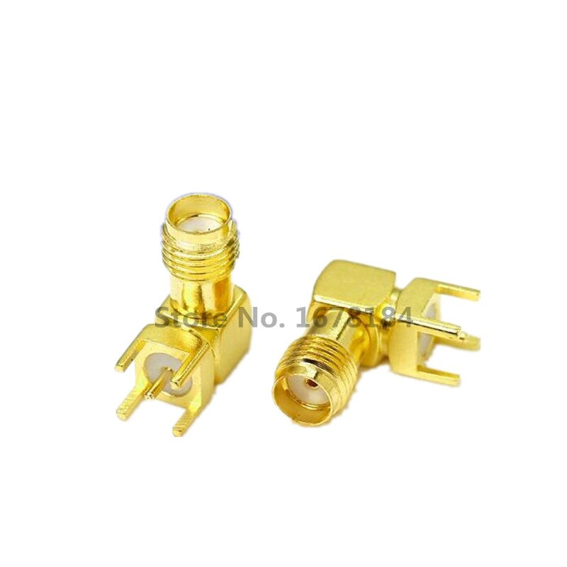 Freies verschiffen 10 PCS sma-buchse Thru Loch stecker Rechten Winkel 90 GRAD (SMA-KWE) PCB mount-anschluss RF adapter beste qualität.