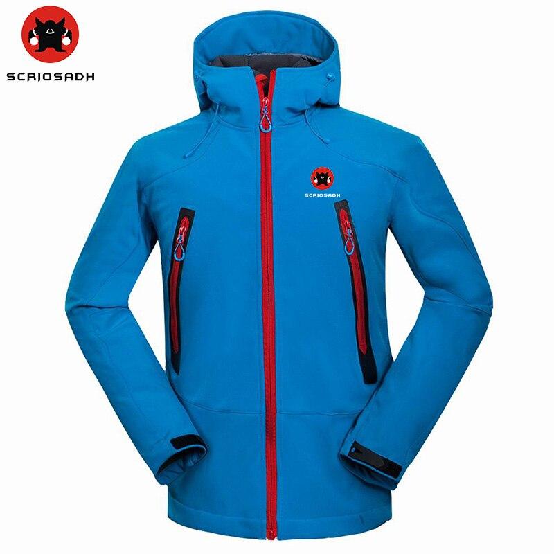 Marca para hombre SCRIOSADH, chaqueta impermeable de exterior suave, chaqueta térmica a prueba de viento de secado rápido, chaqueta de Camping y senderismo, chaqueta de pesca