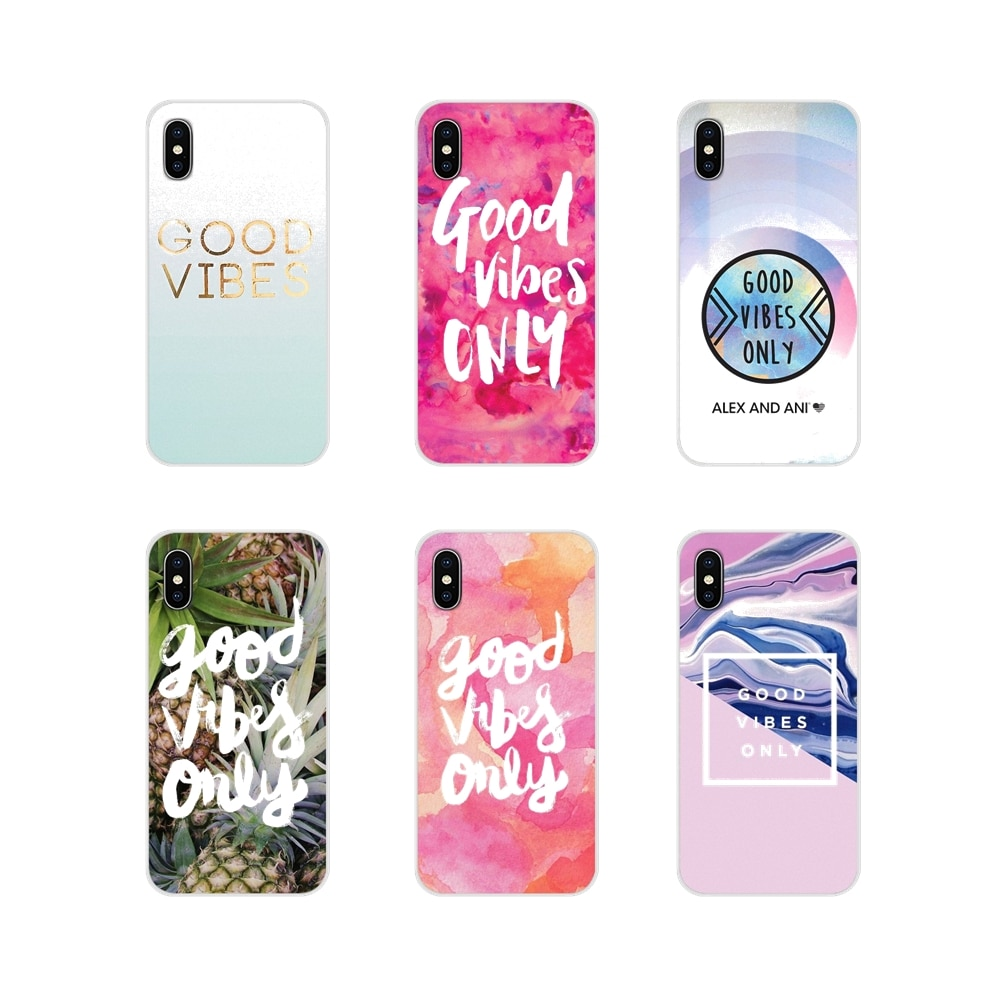 Para Huawei G7 G8 P7 P8 P9 P10 P20 P30 Lite Mini Pro P Smart Plus 2017 2018 2019 buena vibes solo accesorios fundas de teléfono
