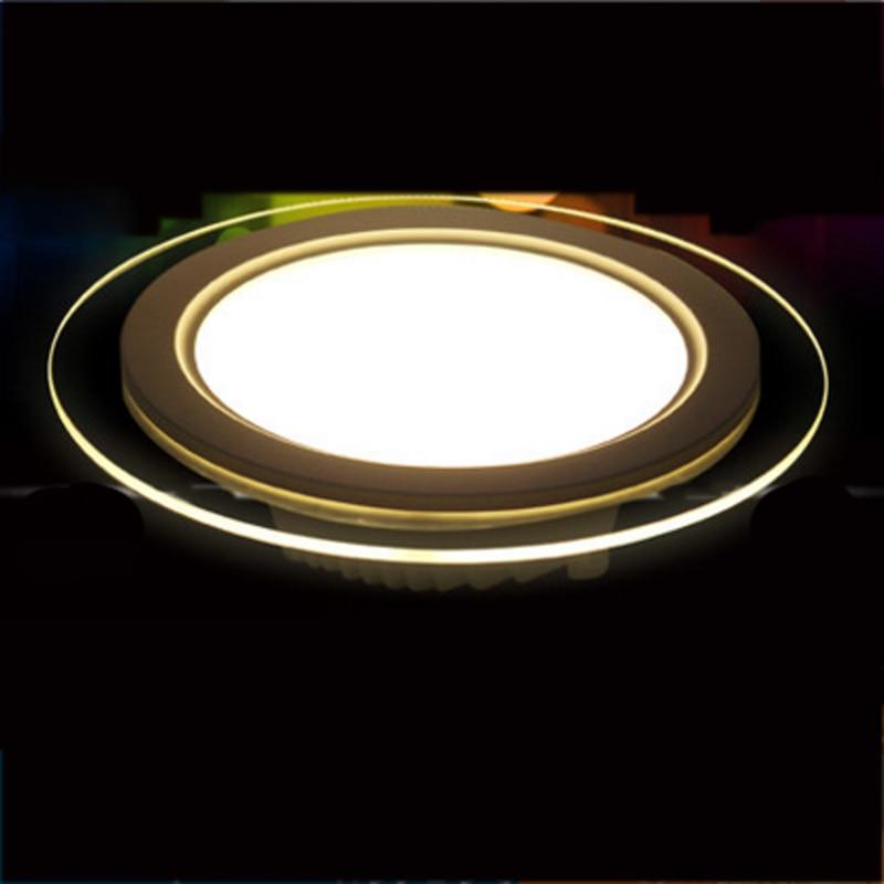 SPLEVISI regulable 6W 12W 18W Panel LED Downlight vidrio redondo de las luces del Panel luces empotrables de techo AC 220V 240V