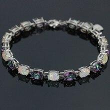 SZ0037 à la mode précieuse opale de feu gemme et violet cristal Bracelets pour femme bijoux élégants meilleur cadeau pour les amoureux