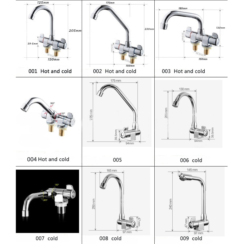 1pcs RV Folding 360 Rotation Faucet Kitchen Aerator Cold & Hot Water Tap For Bathroom Deck Caravan RV Boat Mounted Waterway 001 enlarge