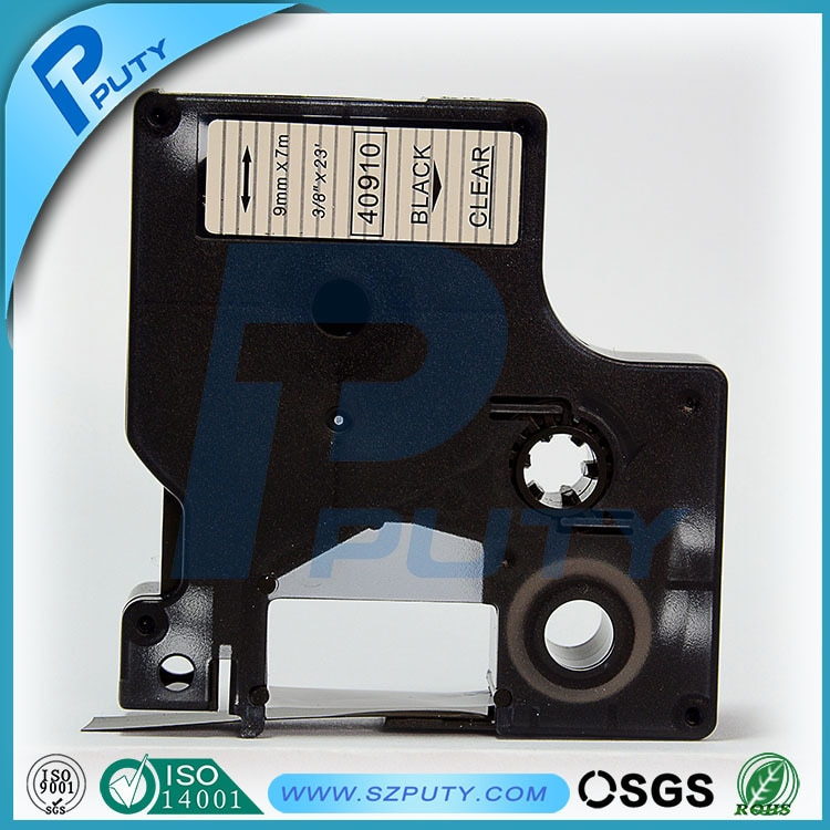 Compatible, negro sobre blanco, 9mm DYMO D1 estándar cartucho de cinta 40910 etiqueta fabricantes