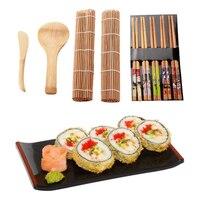 9Pcs/set DIY Sushi Maker Set Rice Mold Kitchen Sushi Making Tool Kit Sushi Mold Cooking Tools Set For Sushi Roll Cooking Tools