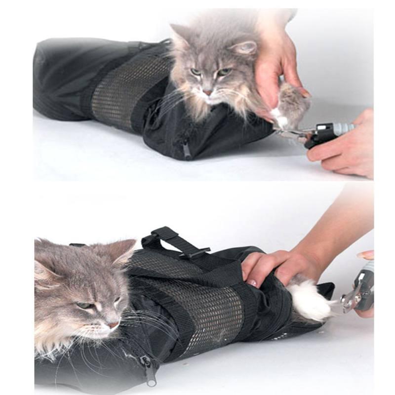 Aseo Bolsa-gato moderación bolsa de aseo accesorio + Gato libre bozal por lindo cachorro accesorios D1