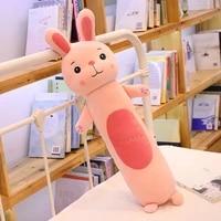 cute cartoon rabbit plush toy monkey long pillow software children sleeping doll birthday gift girl
