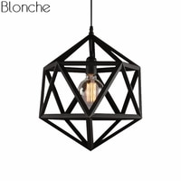 Vintage Diamond Metal Pendant Lights for Living Room Kitchen American Loft Industrial Led Hanging Lamp Home Decor Light Fixtures