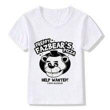 T-shirt enfants   Dessin animé, cinq nuits à Freddys Pizza T shirt drôle, enfants bébés vêtements garçons filles 5 Freddys Top, ooo5016