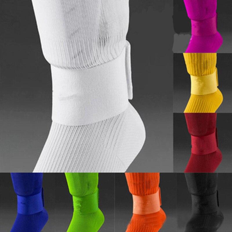 ¡Nuevo! Espinilleras con cinta de vendaje fija, espinilleras de fútbol para prevenir caídas, bandas elásticas deportivas de seguridad ajustables en 3 colores