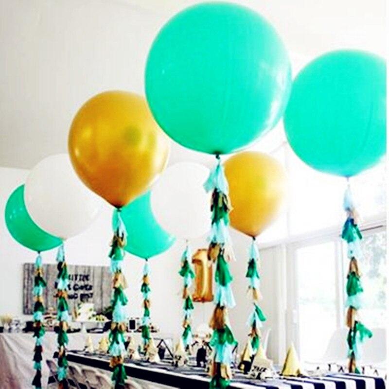36 Inches Big Balloon Ball Helium Inflable Big Latex Balloons Pink Golden Tiffany Blue Helium balloon Wedding Birthday Balloon