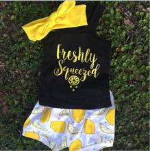 Cartoon Lemon Summer Clothing Sets for Newborn Baby Girl Infant Fashion Outerwear Clothes Suit T-shirt+Pant Suit s  Cloth
