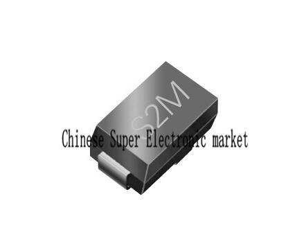 100 pièces S2M SMT redresseur diode 1000V 2A SMB DO-214AA