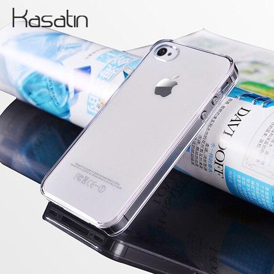 Kasatin caja clara de PC para iPhone 5 5G 5S 6 S 6 7 8 Plus X Xr XS Max Ultra delgada de plástico transparente cubierta del teléfono celular Coque