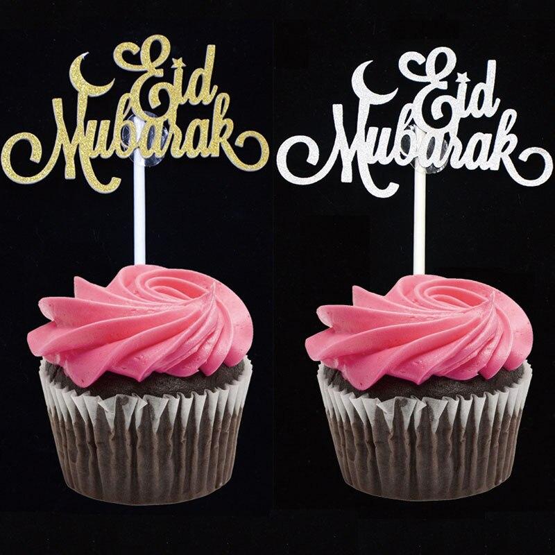 Décoration scintillante à paillettes or argent EID MUBARAK   20 pièces, fournitures décoratives musulmanes islamiques eid Mubarak pour Ramadan