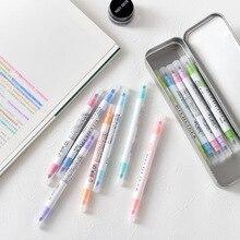 12 pièces/ensemble stylos japonais Mildliner doux liner Double tête stylo Fluorescent mignon Art surligneur dessin marque stylo papeterie