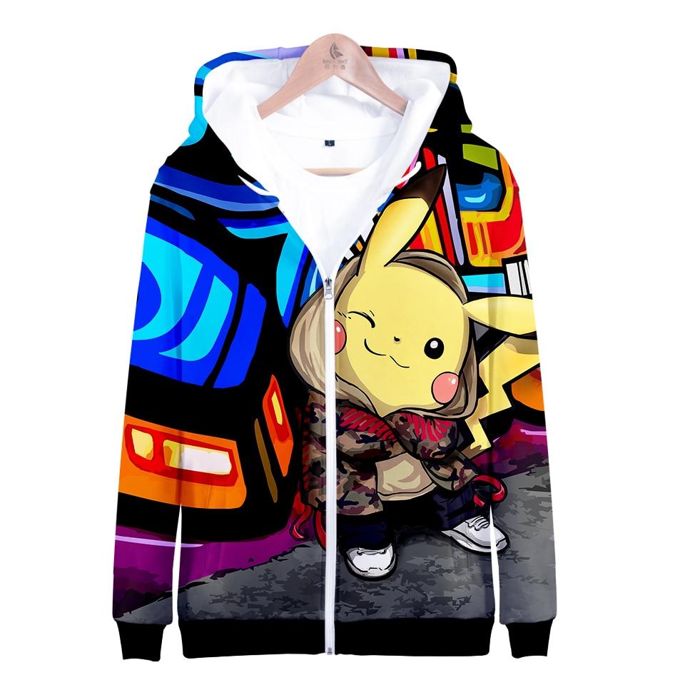 Pikachu Pokemon Gehen 3D Grafik Sweatshirt Hoodies Männer Frauen Umbreon Sweatshirts Hoodie Männer Zipper Jungen Spiel Jacke Kleidung
