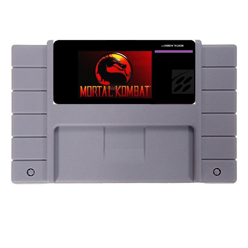 New arrival 16bit super game card Mortal Kombat