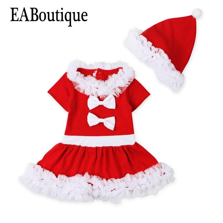 Eaboutique/зимняя одежда для девочек Новая детская Обувь костюм Санта Новогодние