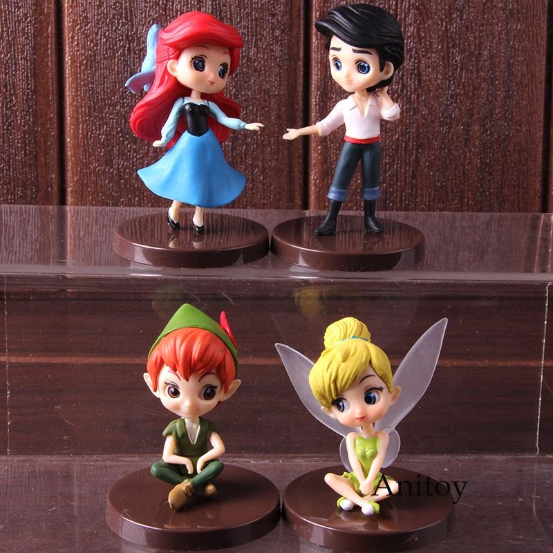 Q Posket Petit Fantastic Time II La Sirenita Príncipe Eric Peter Pan er campana juguete QPosket figura acción 4 unids/set