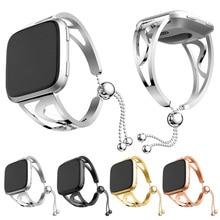 Nueva correa de reloj de acero inoxidable correa de pulsera de repuesto para fitbitesa Lite