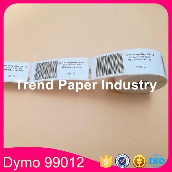 30 Rolls Dymo Kompatible 99012 Label 36mm * 89mm 260 Stücke/Roll Kompatibel für LabelWriter400 450 450 Turbo Drucker SLP 440 450