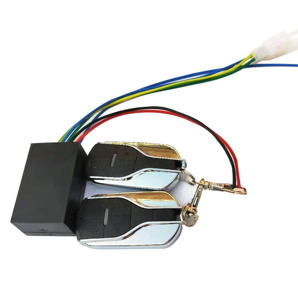 36V 48V 60V 72V ebike sistema de alarma con dos interruptores para bicicleta eléctrica/scooter motocicleta triciclo e bike