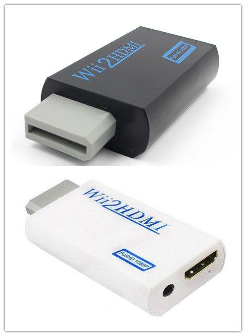 Noir blanc 3.5mm Audio vidéo sortie Full HD 720P 1080P HDTV moniteur pour Wii vers HDMI pour Wii 2 HDMI adaptateur convertisseur