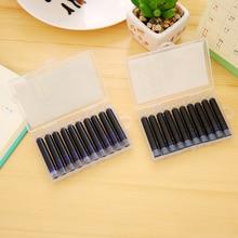 10 pièces couleur bleu ou noir ou rouge ou vert 3.4mm stylo plume cartouches dencre