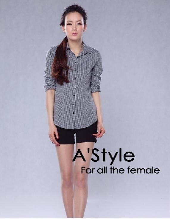 Summer.british wind slim plaid shirt.a38116|shirt shirt|shirt slimshirt |