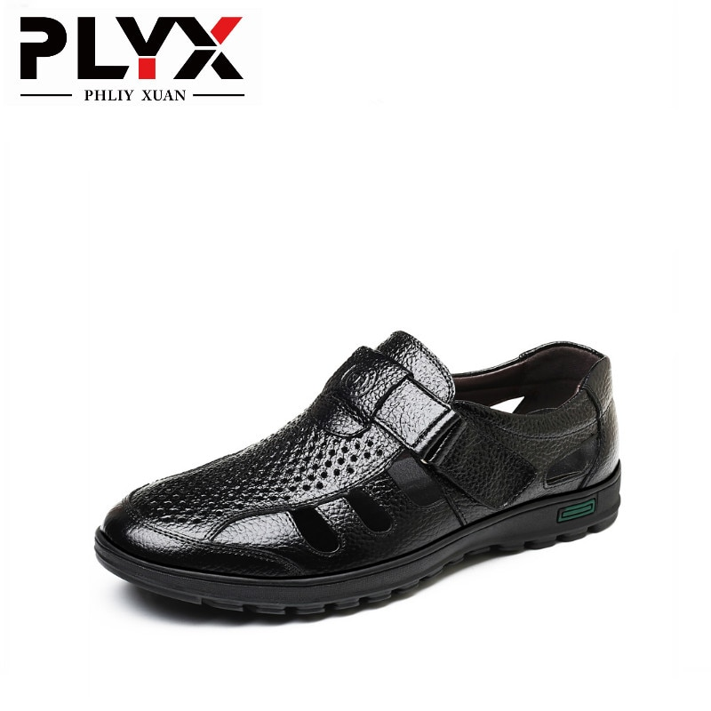 PHLIY XUAN New 2019 Summer Mens Sandals Fashion Male Leather Luxury Men Beach Sandalias Hombre