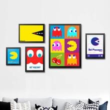Pacman 3D Vintage Video Games Propaganda Poster Retro Decorative DIY Wall Stickers Art Home Bar Posters Decor Gift