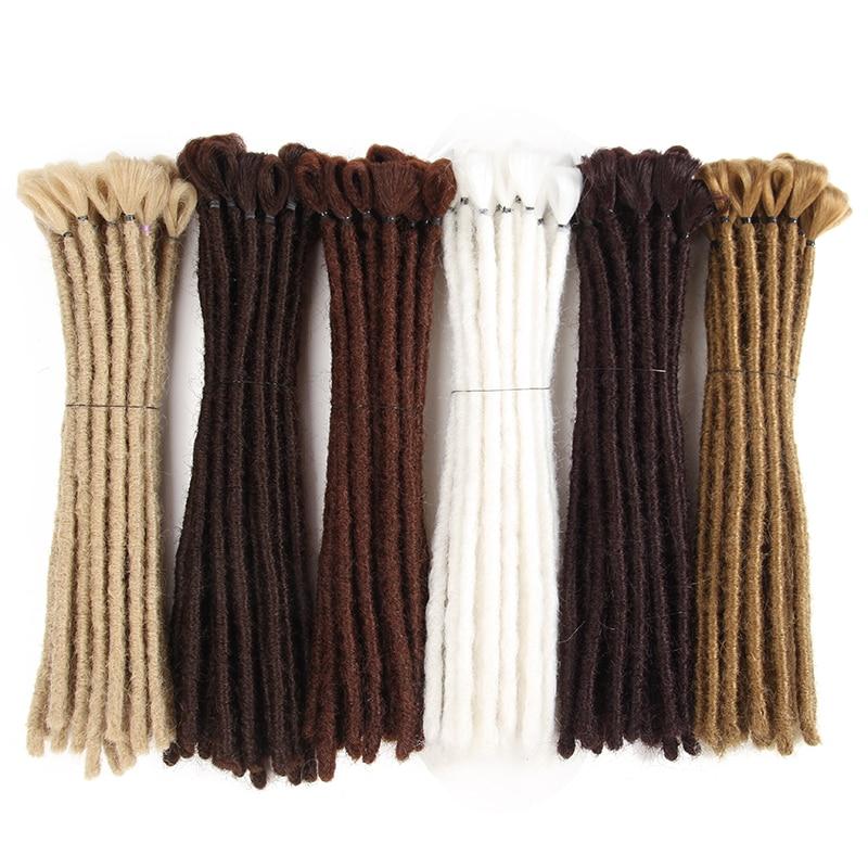 Самкоса 12 дюймов Короткие дреды ручной работы дреды наращивание черные дреды регги волосы вязанные косички синтетические косички волосы дреды и барабаны