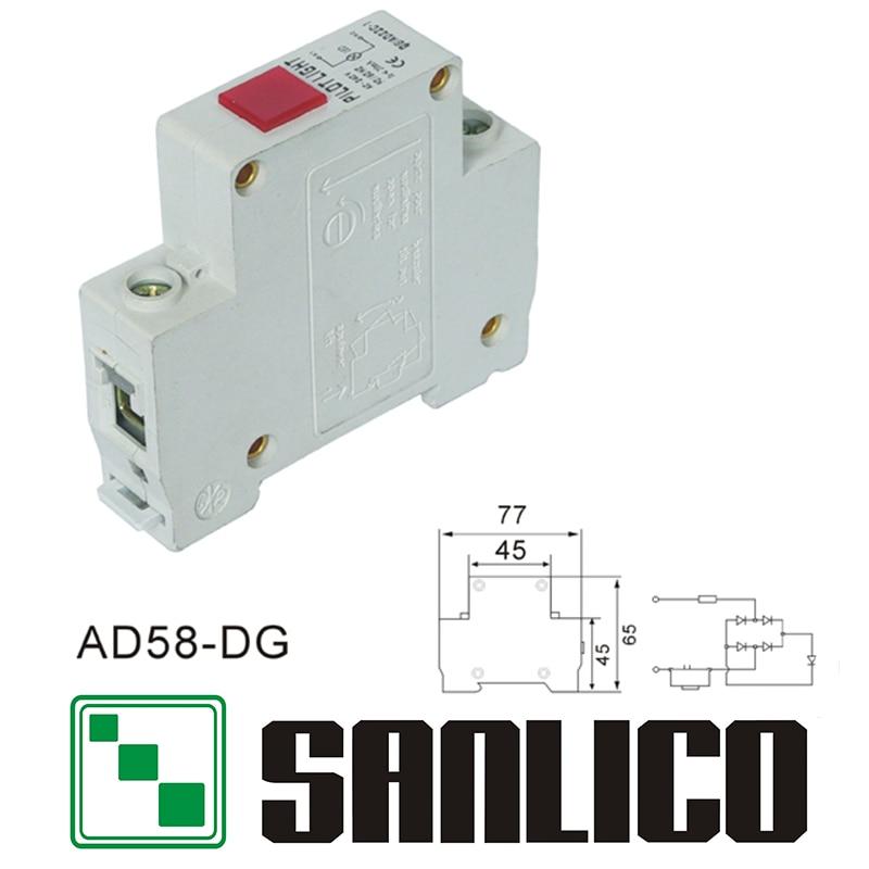 DIN-rail type LED indicator lamp signal lamp AD58-DG