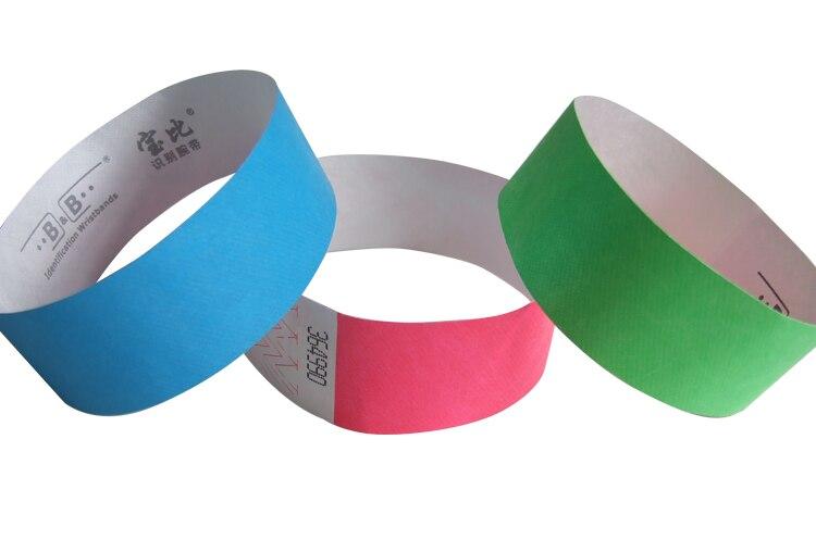 20 Stuks Wegwerp Papier Identificatie Armband Tyvek Armband Du Bangzhi Pols Band Wegwerp Polsband