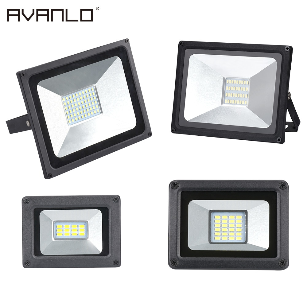 LED הארה 50W 30W 20W 10W דק במיוחד Led מבול אור זרקור חיצוני 220V IP65 קיר חיצוני מנורת מבול אור Led