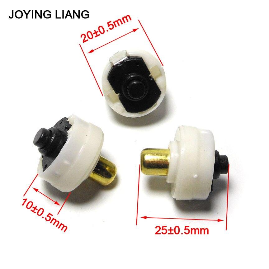 3 unids/lote C8 interruptor de linterna de luz fuerte interruptor de cola de la antorcha eléctrica 20mm * 10mm interruptores redondos blancos T6 Q5 también puede usar